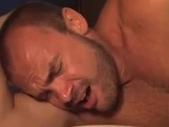AWESOME ANTONIO FACE FUCKS THEN AGGRESSIVELY RAW BREEDS OLDER GUY