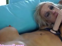 Shemale cant get enough of her busty slut she is licking