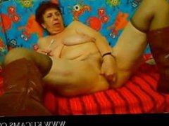 Granny with big boobs solo pussysex cam