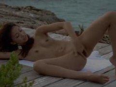japanese angel teasing by the ocean