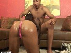 Big ass ebony likes it from behind