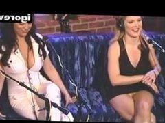 Pantyless blonde on Howard Stern´s program