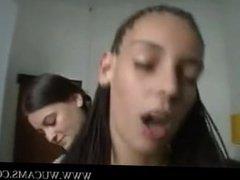 Lucky guy fucks three girls on webcam j