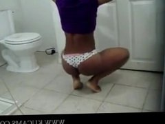 Black Teen Shakes Sexy Ass in Tiny Panti