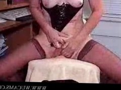 Freaky lady on cam tells a story while t
