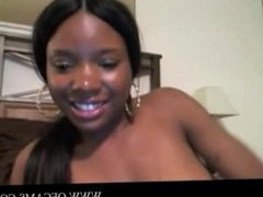 Black teen strips naked on cam and shows