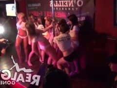 Amateur college teens go crazy and naked during a wet t-shirt contest