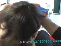 Lapdance by curvy czech brunette