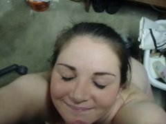 Girlfriend happy to take a hot facial