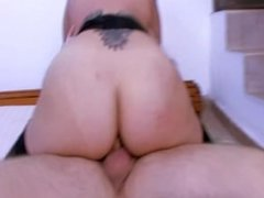 Spanish girl fucks and swallows