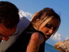 Spanish girl loves sex on the beach