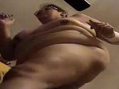 FAT RETARDED PIECE OF SHIT WHORE ALMA SMEGO JOGGING NAKED ON TREADMILL