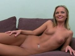 Horny blond having sex with fake agent