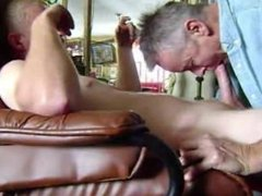 swallowing blonde moaner