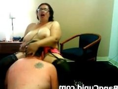 Busty BBW gets her pussy licked and fingered