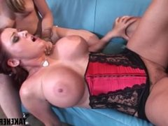 Sophie Dee loves hot cock and pussy in threesome