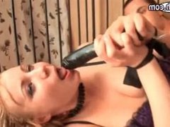 Blonde in stockings gets fucked