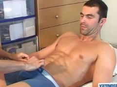 Nicolas, a real french straight guy get wanked !