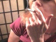 A siren goddess smoking