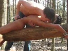 Bondage boys in the woods