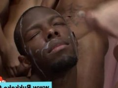 Amateur ass pounded in interracial orgy