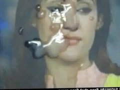 Gman Cum on Face of a Sexy Pakistani TV Star Gharida Farooqi live cam star