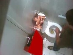 Hidden cam in public toilets