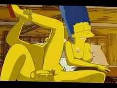 Homer lovesponding Marges tight pink