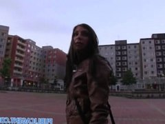 PublicAgent HD Good looking brunette fucking in a car park
