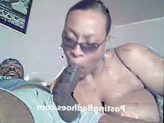 Milf sucking dick on cam