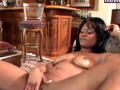Ebony whore tasting huge dick