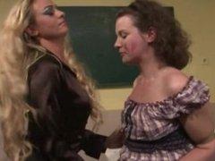 LEZDOM teacher teaching schoolgirl lesson