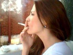 Jeny smokes outside multiple drags