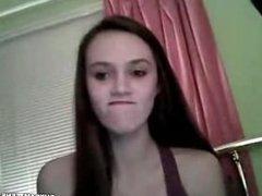 brunette teasing on cam