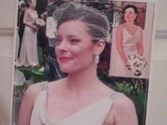 Tribute cumshot on her wedding day