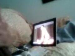 Jacking my slab while watching porn