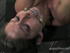 MILF Felony gets tied up and pussy flogged