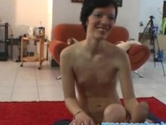Lapdance by short-hair czech chick
