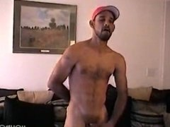 his cock is hard and full of cum
