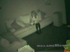 Spy cam porn sex babysitter gets bored