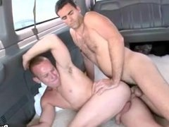 Two sexy straight hunks are fucking for the first time