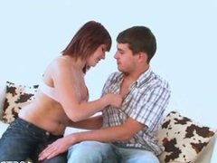 Teen with skillful cock riding
