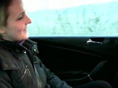 Euro girlnextdoor fucks and sucks taxi driver