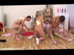 Little Caprice (aka Czech Patricia) And Sabrinka (Yvette) - Group Sex