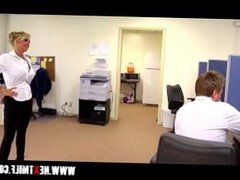 Blowing big dick in the office