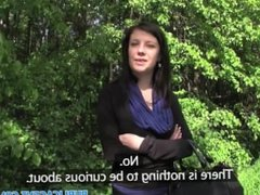 PublicAgent Eva takes cash for sex in the woods