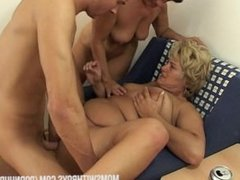 Young Boy Receives Real Thorough Sex Education From Two Hot Moms