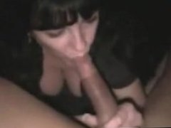 Lucky Guy Gets His Cock Sucked By Two Brunette Girls And Then They Share