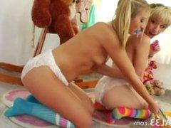 Unique lezzie games with diapers