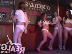 DRUNK ENGLISH COLLEGE GIRLS STRIP NAKED DURING A WET T-SHIRT CONTEST